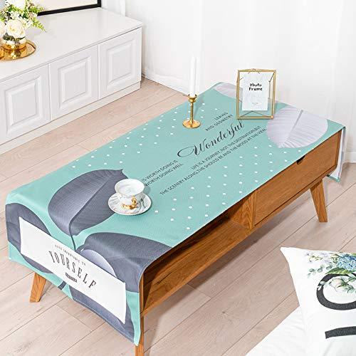 YXDZ Table Basse Nappe en Coton Nappe De Couverture De Table Basse Meuble De Télévision Couverture Rectangulaire Serviette De Table en Tissu C 70X180Cm