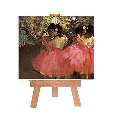 Dancers in Pink | Edgar Degas, Mini Canvas with Easel