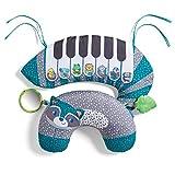Infantino 3-in-1 Tummy Time Piano – Nackenrolle und Pianokissen für Säuglinge von 0-5 Monaten – Mit 20+ Melodien – Fördert die grobmotorische Entwicklung und das frühe Krabbeln