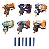 NERF MicroShots 6-Blaster Bundle -- 6 Mini Dart-Firing Elite Blasters and 6 Official Elite Darts -- for Kids, Teens, Adults (Amazon Exclusive)