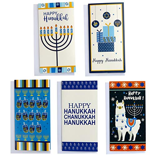 Iconikal Hanukkah 30 Gift Card/Money Holders and 30 Envelopes