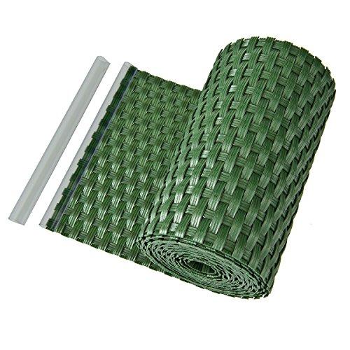 Paneles de protección visual de polietileno para vallas y balcones, de ratán, color verde
