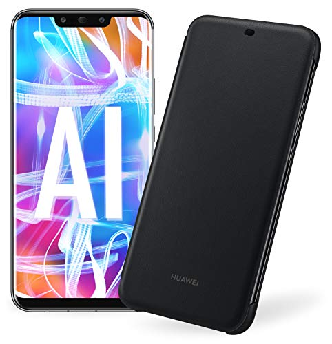 "Huawei Mate 20 Lite più Flip Cover Nera originale, Telefono con 64 GB, Display 6.3"" Full HD, Processore Octa Core con Intelligenza Artificiale, Batteria da 3750 mAh, Nero (Black) [Versione Italiana]"