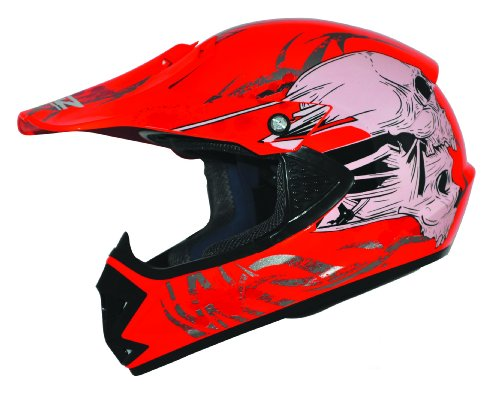 Kids Pro Kinder Crosshelm Rot Größe: XS 53-54cm Kinderhelm Kinder Cross BMX MX Enduro Helm