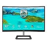 Philips 325E1C - 32 Zoll QHD Curved Gaming Monitor, 75 Hz, 4ms, FreeSync (2560x1440, VGA, HDMI, DisplayPort) schwarz