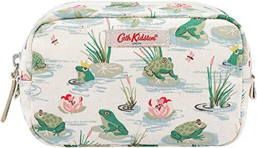 Cath Kidston Kosmetiktasche mit Frosch-Motiv, PVC-beschichtete Baumwolle, cremefarben