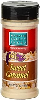 Wabash Valley Farms Popcorn Seasoning, Sweet Caramel - Great for Fruits, Nuts, Ice Cream, Yogurt, Pretzels and More - Fat-Free, 0 Calories Per Serving - 3.7oz