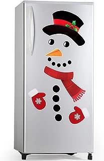 D-FantiX Snowman Refrigerator Magnets Set of 16, Cute Funny Fridge Magnet Refrigerator Stickers Holiday Christmas Decorations for Fridge, Metal Door, Garage, Office Cabinets (Large)
