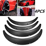 AutoTrends Polyurethane PU Flexible Yet Durable Black Universal Car Fender Flares - 4