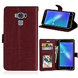 YYhin pour Coque ASUS ZenFone 3 Max ZC553KL(5.5'),Etui en Cuir pour téléphone Portable, Etui à...