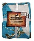 MOOSELANDER- Reversible Sherpa Blanket Realtree Prints. Queen/Large 72' x 60' (Realtree Blue)
