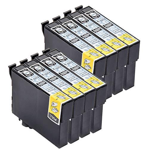 Caidi - Cartuchos de tinta compatibles con Epson T1281 T1282 T1283 T1284 para Epson Stylus SX235W SX445W SX425W SX130 SX230 SX420W SX125 (8 negro)