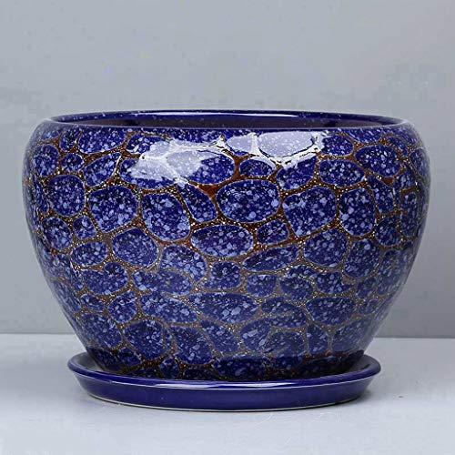 Lembeauty Vintage Style Chinois Bleu et Blanc Vase en Porcelaine Mini Vase en C/éramique pour D/écoration de la Maison