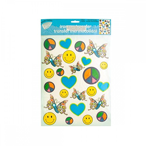 Kole Imports Iron-On Peace Love Joy Transfers, Multicolored