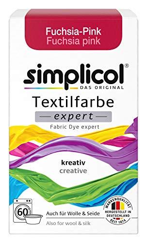 Simplicol Textilfarbe expert Fuchsia-Pink 1705: Farbe für kreatives, einfaches Färben in der Waschmaschine oder manuell