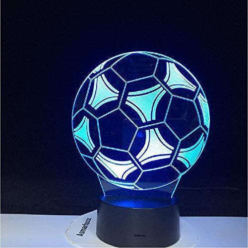 Deal Voetbal vorm 3D LED nachtlampje voor kantoor huis kamer decoratie kind jongens baby nachtlampje tafellamp geschenk remote telefoon bluetooth control kleur