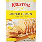 Krusteaz Meyer Lemon Pound Cake Mix is tasty, moist, and makes a wonderful treat for any occasion Meyer Lemons have a sweeter and more floral taste than other lemons, which makes this pound cake perfect in flavor and loved by all Also includes a pouc...