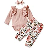 Newborn Baby Girls Clothes Romper+ Floral Long...