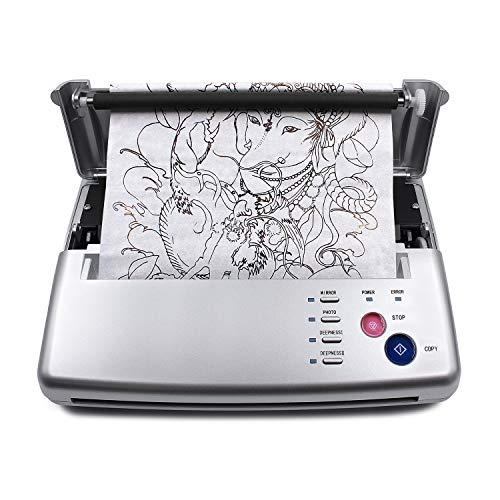 TATELF Tattoo Printer Stencil Drucker, Professionelle Tattoo Transfer Thermal Kopierer für DIY Tattoo Supplies Silber