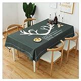 YOUCAI Einfache Moderne Streifen Tischdecke Quaste Tischdecke,Baumwolle Leinen Elegante Tischdecke waschbare Küchentischabdeckung für Speisetisch,72,140 * 230CM