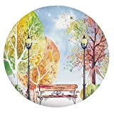 Mantel ajustable de poliéster con bordes elásticos, para mesas redondas de 142 a 152 cm, para comedor y...
