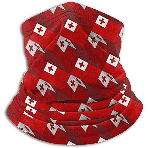Tonga Flagge 3D Kunst Muster Nackenwärmer Schal Gamasche Gesichtsmaske Bandanas Für Staub Kaltes Wetter Winter Im Freien