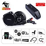 Junstar 8fun Bafang BBSHD BBS03 48V 1000W mi kit de Conversion de vélo électrique de Moteur avec Batterie au Lithium Hailong de Batterie d'E-vélo 11.6Ah / 17.5Ah