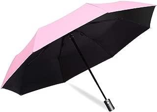 SHANGRUIYUAN-Umberllas Travel Umbrella for Women Sun Rain Umbrella Business Windproof Durable Auto Open Close Umbrella Black Glue Anti UV Coating Compact (Color : Pink, Size : One Size)