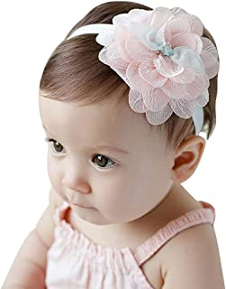 IMLECK Baby Girl Floral Headband Flower Headbands Newborn Hair Accessories