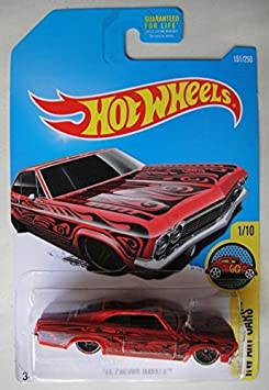 016 Hot Wheels WHITE /'65 CHEVY IMPALA HW ART CARS Series 1//10