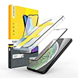 ZIFRIEND 5 Seconds Easy Application Premium Tempered Glass for Apple iPhone Xs Max - Anti Finger Print - Anti Scratch - Oil Resist - Shatter Proof- Perfect 3D Full Screen