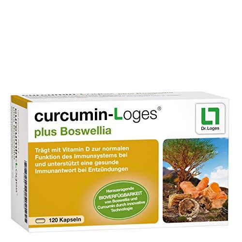 curcumin-Loges plus Boswellia Nahrungsergänzungsmittel - 120 Kapseln, unterstützt die Hemmung von Entzündungen
