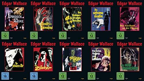15 Filme - Best of EDGAR WALLACE Der Frosch mit der Maske + Das indische Tuch + Gasthaus an der Themse + schwarze Abt + Zinker
