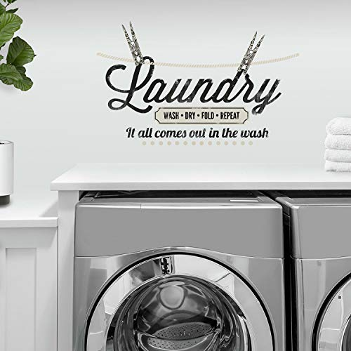 RoomMates Laundry Quote Peel and Stick Wall Decals, ,