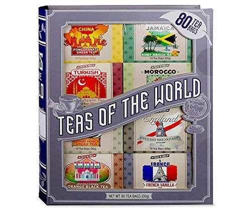 """Teas of the World"" Tea Gift Set, 80-Bags"