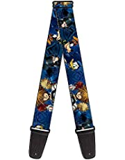 """Buckle-Down GS-WDY212 Guitar Strap - Kingdom Hearts 6-Character Pose/Dark Blues - 2"""" Wide - 29-54"""" Length"""