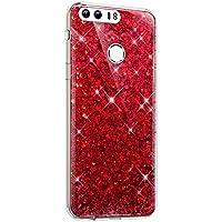 Kompatibel für Huawei Honor 8 TPU Silikon Hülle für Huawei Honor 8: Flexibel, klar und leicht, ist die Hülle für ultimative Nutzungserfahrung konzipiert. Glitzer Handyhülle für Huawei Honor 8,TPU Bling Glitzer Strass Diamant Schutzhülle Ultra Dünn Kr...