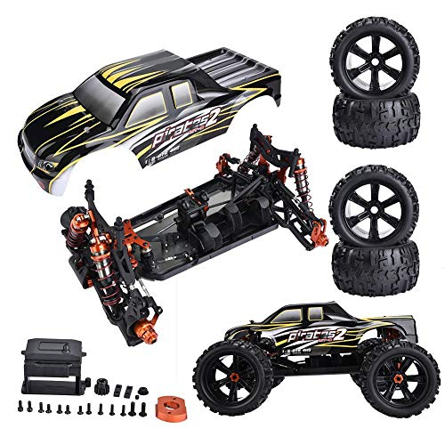 Rosvola Remote Control Car, ZD Racing 9116-V3 1/8 Scale Electric Truck 4WD Car Frame DIY Kit Remote Control Part