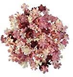 NATTHAFLOWER 100 pcs Burgundy Color Tone Mulberry Blossoms Paper Flowers Scrapbooking Embellishment Size 20 mm for Craft Handmade