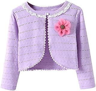 LOSORN ZPY Little Girls Long Sleeve Lace Bolero Jacket Cardigan Flower Shrug Dress Cover Up