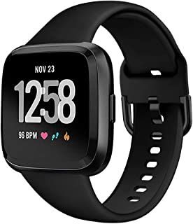 GHIJKL Bands Compatible with Fitbit Versa/Versa 2/Versa Lite/Special Edition, Soft Silicone Breathable Replacement Sport Wristband Accessories for Fitbit Versa Smartwatch, Women Men, Large Small