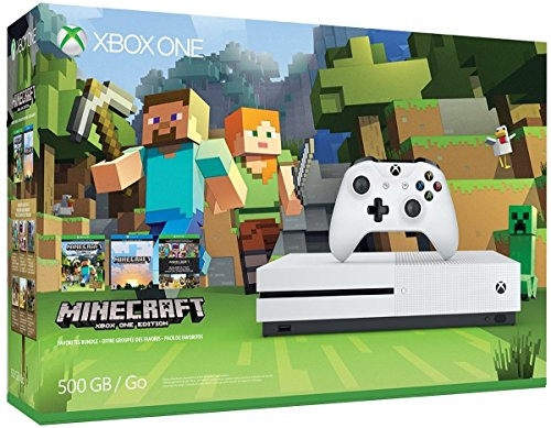 Xbox One S 500GB Console - Minecraft Bundle [Discontinued] (Certified Refurbished)