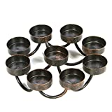 Hosley 7 Inch Bronze Metal Farmhouse 9 Candle Tealights Citronella Votive Candle Holder Ideal Gift for Wedding Aromatherapy Spa Zen Citronella Tealights in a Patio Candle Garden O9