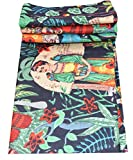 Indian Handmade Frida Kahlo Print Cotton Fabric For Making