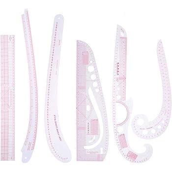 6pcs Coudre La R/ègle M/étrique Fran/çaise Courbe Pour La Couture Couture Kit Set Nouveau La Fabrication De V/êtements Et La Pr/éparation De Patrons