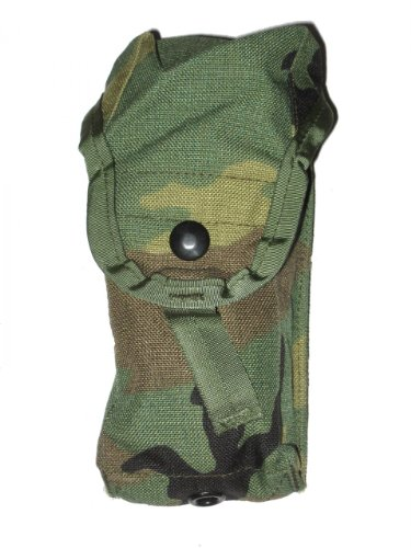 Official US Military Army Woodland Molle M4 2 Double Mag Ammo Pouch