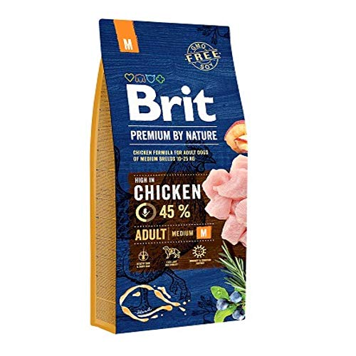 Brit Premium By Nature Adult M per Cani Adulti di Taglia Media - 15 kg