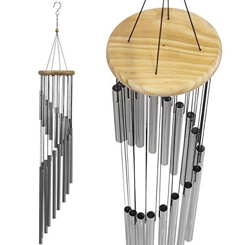 Carillon à vent Sorbus - Tubulaire décoratif décoratif d'extérieur avec sonnerie musicale apaisante - Idéal pour commémoration, maison, terrasse, terrasse ou jardin, métal