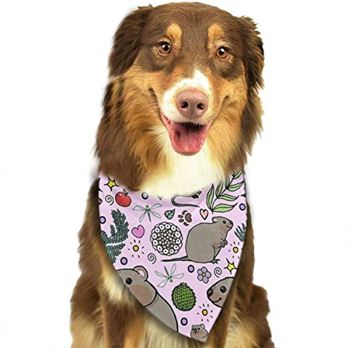 Rghkjlp Quokka Party Pet Bandana Washable Reversible Triangle Bibs Scarf - Kerchief for Small/Medium/Large Dogs & Cats