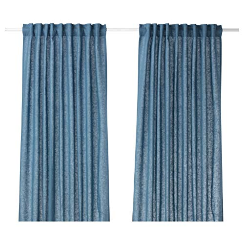 IKEA ASIA AINA Vorhänge 1 Paar blau